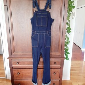 Le Château dark blue denim overalls